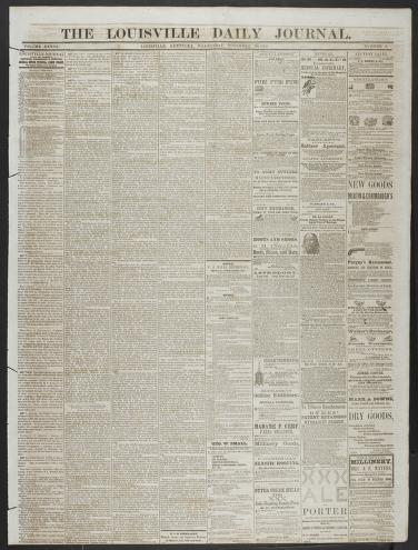 Hot ass porled Louisville Daily Journal Louisville Ky 1833 1862 11 26