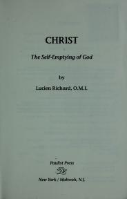 Cover of: Christ | Lucien Richard